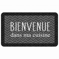 Printed Eva Foam Kitchen Mat - Black