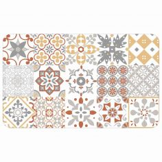 Salou Printed Eva Kitchen Foam Mat - Orange