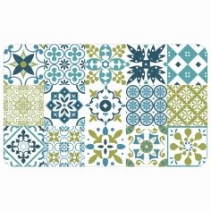 Salou Printed Eva Kitchen Foam Mat - Green