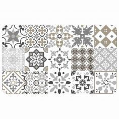 Salou Printed Eva Kitchen Foam Mat - Natural