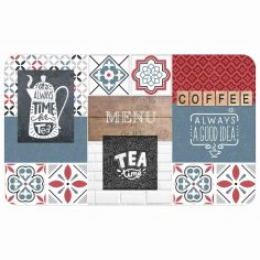 Printed Eva Foam Theine Kitchen Mat - Multi
