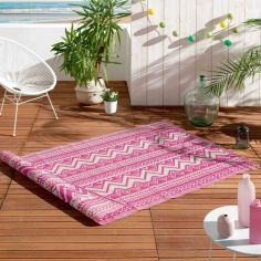 Azimut Geometric Aztec Indoor Outdoor Rug - Pink