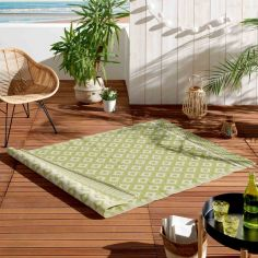Osaya Geometric Indoor Outdoor Rug - Lime Green
