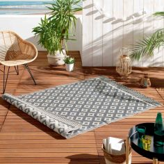Osaya Geometric Indoor Outdoor Rug - Grey