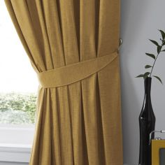 Dijon Tie Backs - Ochre Yellow