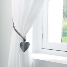 Amourette Love Heart Rope Tieback - Silver Grey