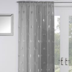 Birch Voile Curtain Panel - Silver Grey
