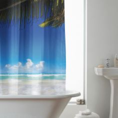 Hookless Beach Shower Curtain - Multi