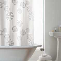 Hookless Echo Spots & Circles Shower Curtain - Multi