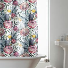 Hookless Tropical Toucan Floral Shower Curtain - Multi