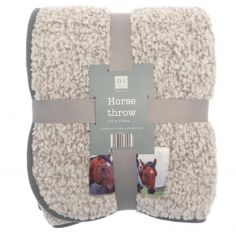 Printed Horse Fleece Throw