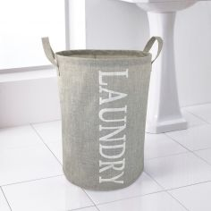 Woven Laundry Basket with Handles - Natural