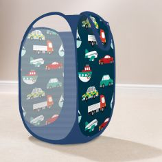 Transport Cars Pop Up Laundry Tidy - Blue Multi