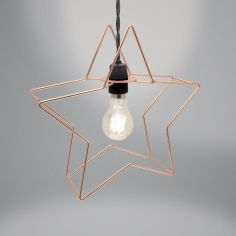 Metal Star Light Fitting - Copper