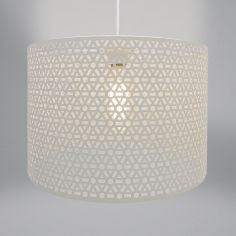Geometric Light Fitting - Oatmeal Natural