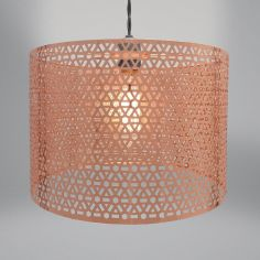 Geometric Light Fitting - Copper