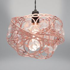 Gem Wrap Light Fitting - Rose Gold