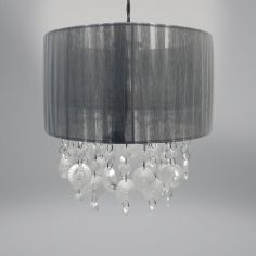 Ribbons & Gems Light Fitting - Grey