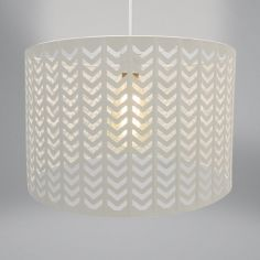 Chevron Light Fitting - Oatmeal Natural