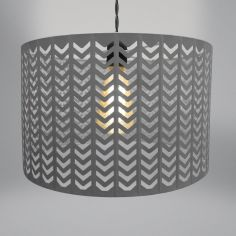Chevron Light Fitting - Grey
