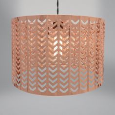 Chevron Light Fitting - Copper