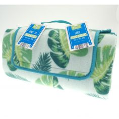 Floral Leaf Picnic Blanket - Green Multi