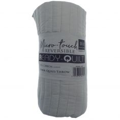 Summer Reversible Quilt Throw - Grey