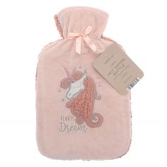 Unicorn Dream Hot Water Bottle - Pink