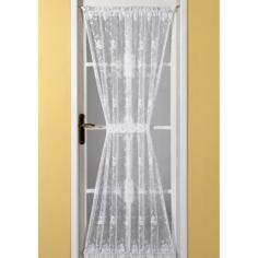 Emma Door Net Curtain White