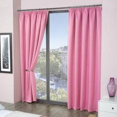 Luxury Thermal Supersoft Blackout Curtains Pink