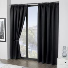 Luxury Thermal Supersoft Blackout Curtains Black