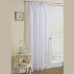 Nightingale Birdcage White Voile Curtain Panel