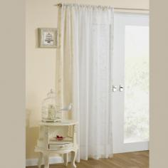 Nightingale Birdcage Cream Voile Curtain Panel