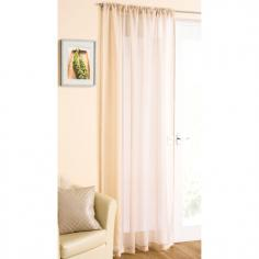 Cream Glitter Voile Curtain Panel