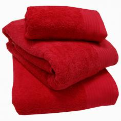 Egyptian Cotton Combed Supersoft Towel Red