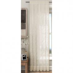 Hearts Cream Voile Curtain Panel