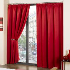 Luxury Thermal Supersoft Blackout Curtains Red