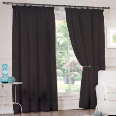 Luxury Black Lined Voile Curtains