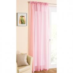 Pink Glitter Voile Curtain Panel
