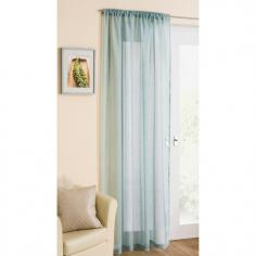 Duck Egg Glitter Voile Curtain Panel
