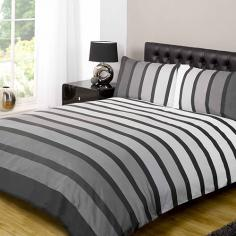 Soho Black Striped Duvet Cover Set