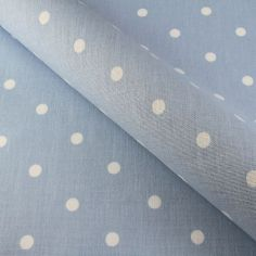 Powder Blue Dotty Made to Measure Roman Blind