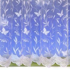 Hawaii Butterfly White Net Curtain