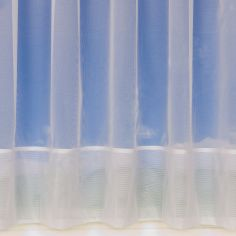 Plain White Net Curtain 355