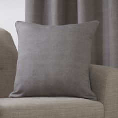 Plain Belvedere Cushion Cover - Charcoal Grey