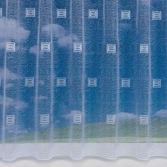 Square Pattern White Net Curtain