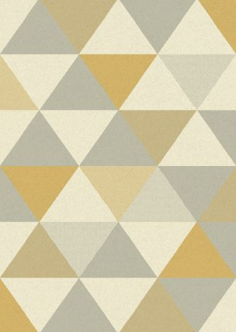 Focus Machine Woven Geometric Rug - Yellow Grey Multi 03