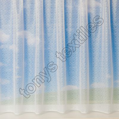 Crushed Look White Net Curtain