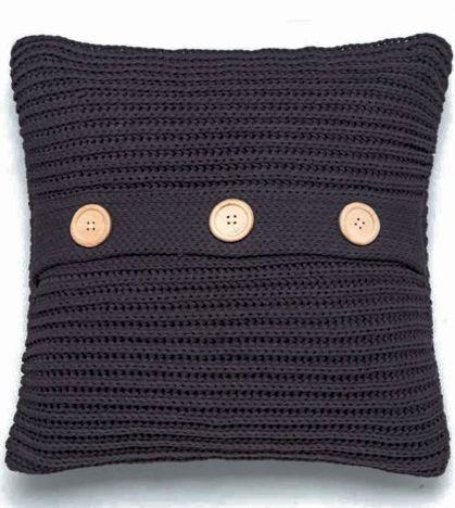 Chunky Knit Brown Cushion Cover Tonys Textiles