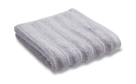 Bianca 100% Cotton Soft Ribbed Towel - Silver Grey